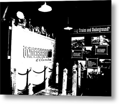 Metal Print featuring the photograph Atlanta Underground by Cleaster Cotton