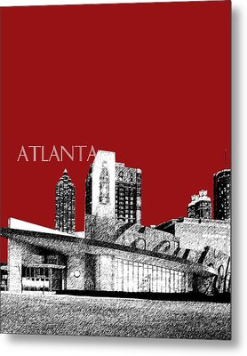 Atlanta World Of Coke Museum - Dark Red Metal Print