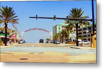 Metal Print featuring the photograph Atlantic Avenue In Daytona by Jeanne Forsythe