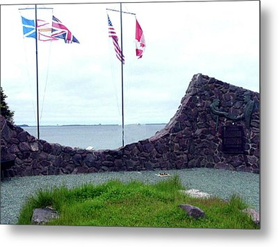 Metal Print featuring the photograph Atlantic Charter Historic Site by Barbara Griffin