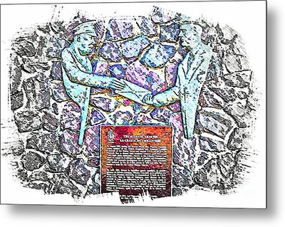 Atlantic Charter Monument Metal Print by Barbara Griffin