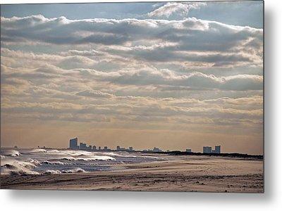 Atlantic City Skyline II Metal Print
