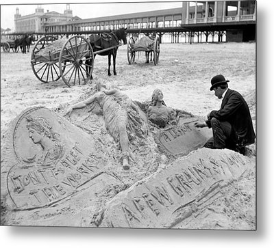 Atlantic City The Sandman Metal Print by Granger