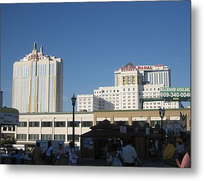 Atlantic City - Trump Taj Mahal Casino - 12123 Metal Print by DC Photographer