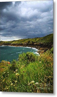 Atlantic Coast In Brittany Metal Print by Elena Elisseeva