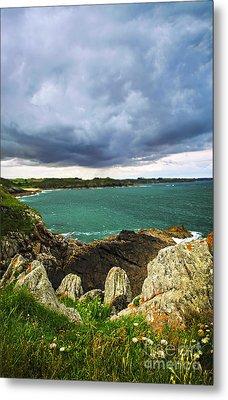 Atlantic Coastline In Brittany Metal Print by Elena Elisseeva