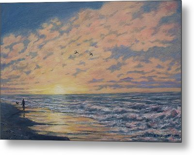 Atlantic Dawn # 2 By K. Mcdermott Metal Print