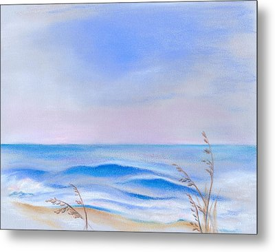 Metal Print featuring the pastel Atlantic Evening by MM Anderson