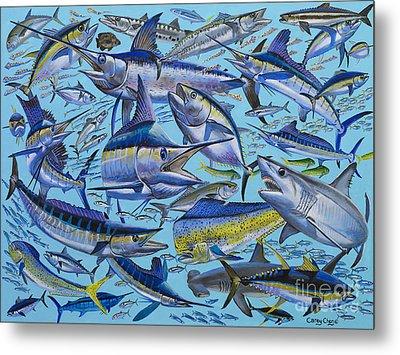 Atlantic Gamefish Off008 Metal Print by Carey Chen