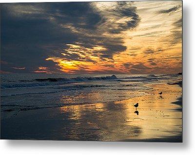 Atlantic Sunset Metal Print by Jill Laudenslager