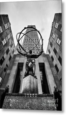 Atlas At The Rock Metal Print by John Farnan