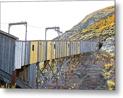 Atlas Coal Mine Fall Metal Print by Brian Sereda