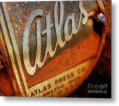 Metal Print featuring the photograph Atlas Press - No.96782 by Joe Finney