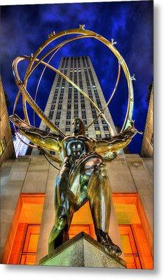 Atlas Statue At Rockefeller Center Metal Print