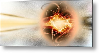 Atom Collision Metal Print by Panoramic Images