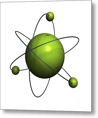 Atom Structure Metal Print