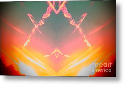 Atomic Contrail Metal Print by Karen Newell