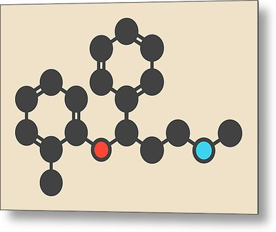 Atomoxetine Adhd Drug Molecule Metal Print