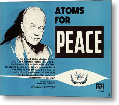 Atoms For Peace Speech Metal Print by Us National Archives