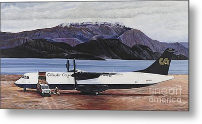 Atr 72 - Arctic Bay Metal Print by Marilyn  McNish