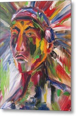 Atsila, Native American Metal Print