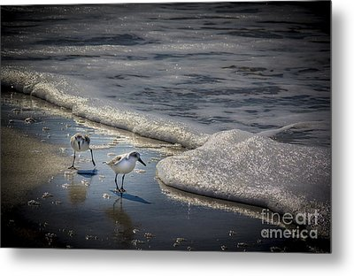 Attack Of The Sea Foam Metal Print
