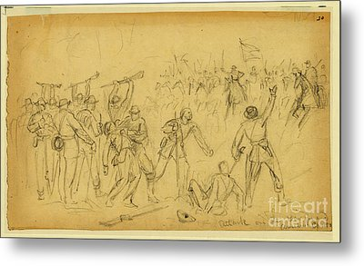 Attack On The Rear Guard. Amelia Ct. Ho. Metal Print