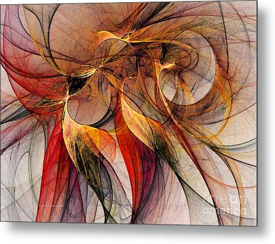 Attempt To Escape-abstract Art Metal Print