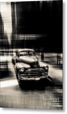 attracting curves III gray Metal Print by Hannes Cmarits