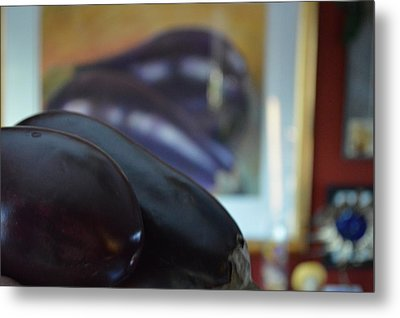 Metal Print featuring the photograph Aubergine A Go Go  by Brian Boyle