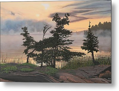 Auburn Evening Metal Print by Kenneth M  Kirsch