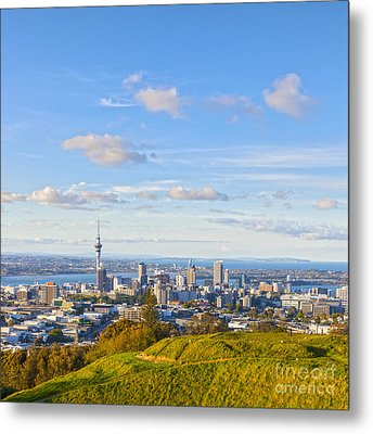 Auckland From Mount Eden Metal Print by Colin and Linda McKie