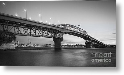 Auckland Harbour Bridge Evening Metal Print by Colin and Linda McKie