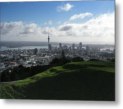 Auckland With Mt. Eden Metal Print by David and Mandy