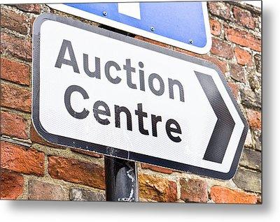 Auction Centre Metal Print
