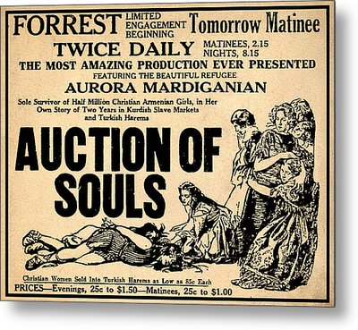 Auction Of Souls Metal Print by Bill Cannon