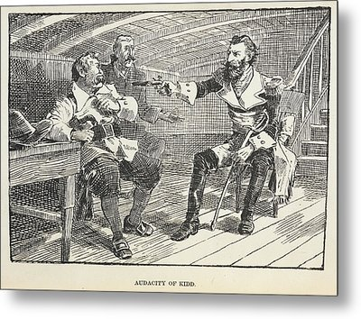 Audacity Of Kidd Metal Print by British Library