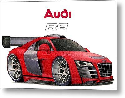 Audi Toon Metal Print by Lyle Brown
