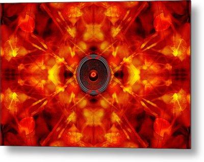 Audio Kaleidoscope Metal Print