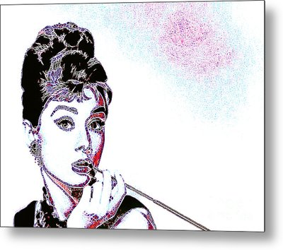 Audrey Hepburn 20130330 Metal Print by Wingsdomain Art and Photography