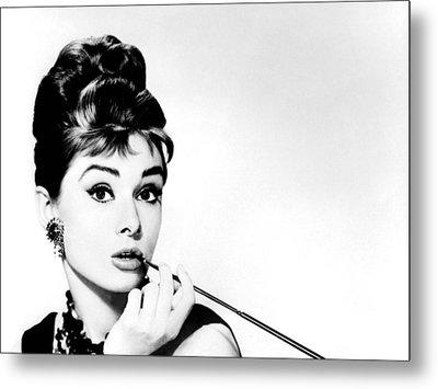 Audrey Hepburn Metal Print by Csongor Licskai