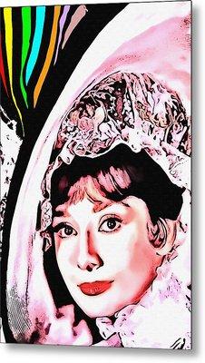 Audrey Hepburn In My Fair Lady Metal Print by Art Cinema Gallery