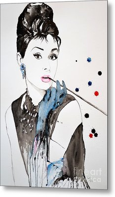Audrey Hepburn Metal Print by Ismeta Gruenwald