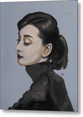 Audrey Hepburn Metal Print by Matt Burke