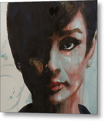 Audrey Hepburn  Metal Print by Paul Lovering