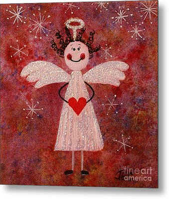Audrey The Angel Metal Print by Jane Chesnut