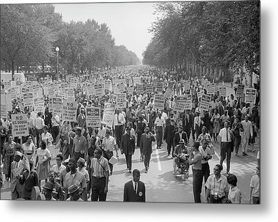 August 28, 1963 - A Large Group Metal Print by Stocktrek Images