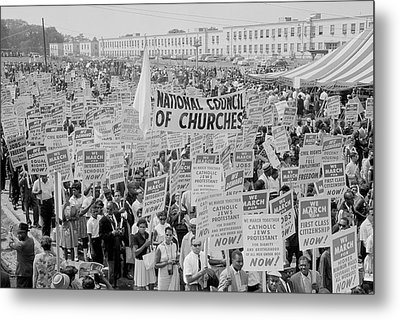 August 28, 1963 - Marchers, Signs Metal Print by Stocktrek Images