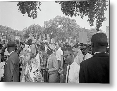 August 28, 1963 - Protestors Metal Print by Stocktrek Images
