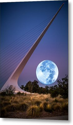 August Moon Metal Print by Randy Wood